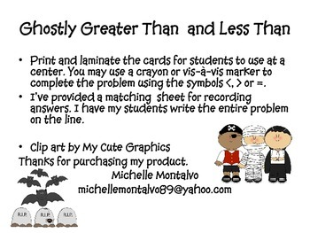 Comparing Numbers/Greater Than and Less Than