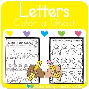 Ghostly Letter Recognition Worksheets