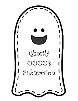 Ghostly Math Subtraction with Zero (0's)  - 2 and 3 digit