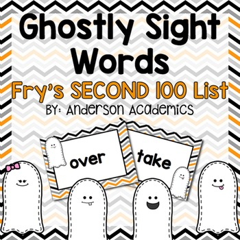 Ghostly Sight Words - Fry's SECOND 100 Words