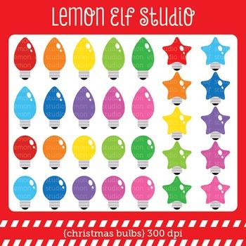 Ghristmas Bulbs-Digital Clipart (LES.CL52)