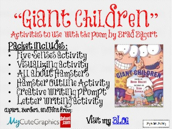 """Giant Children"" Poem Activities"