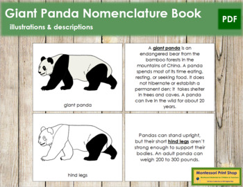 Giant Panda Nomenclature Book