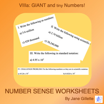 Giant and Tiny Numbers A