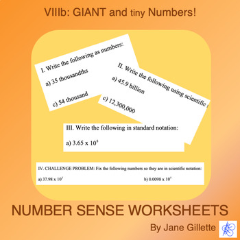 Giant and Tiny Numbers B