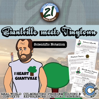 Giantville Meets Tinytown -- Scientific Notation Project