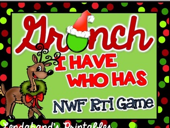 Nonsense Word Fluency I HAVE WHO HAS Game (Red and Green C