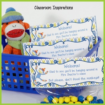 Gift Bag Topper – FREEBIE - Coordinates with Sock Monkey C
