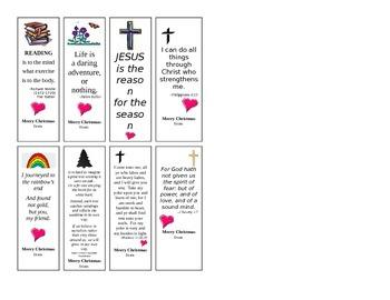 Gift Bookmarks Christian