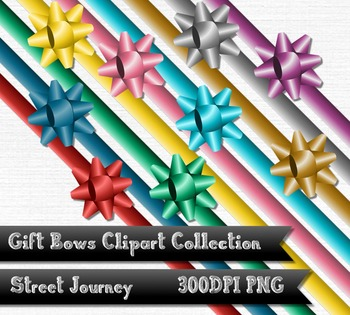 Gift Bow and Ribbon Clipart Collection 18 PNG with transpa