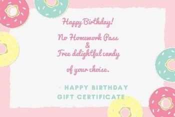Gift Cerficates Birthday card!