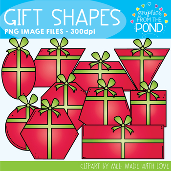 Gift / Present Shapes Clipart