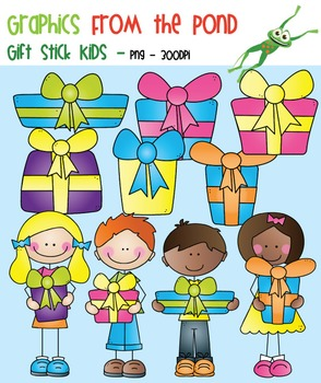 Gift Stick Kids Clipart