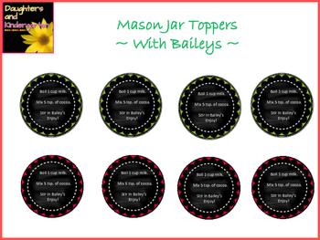 Gift Tags for Hot Cocoa Mason Jar Gift