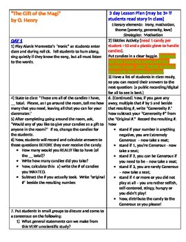Gift of the Magi Multi-Day Lesson Plan