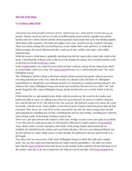 Gift of the Magi Literature Basics