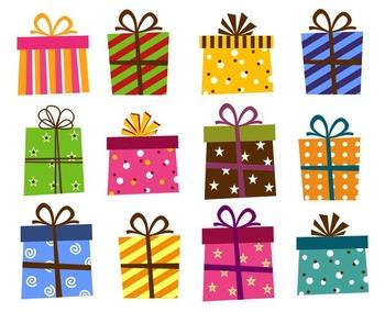 Giftbox Clip Art, Present Boxes Clip Art,  Birthday Holida