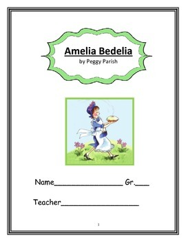 Gifted Book Unit: Amelia Bedelia