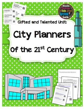 Gifted and Talented STEM Unit - City Planners of the 21st Century