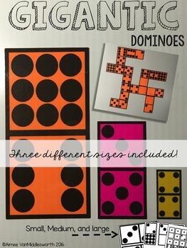 Gigantic Math Manipulatives: Dominoes