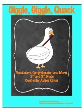 """Giggle, Giggle, Quack"" -Doreen Cronin - Vocabulary, Compr"