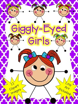 Giggly-Eyed Girls Clip Art {Clipart for Teachers and Classrooms}