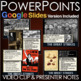 Gilded Age Labor Movement Powerpoint with Lecture Notes