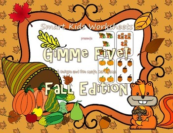 Gimme Five! Fall Edition - A Math Card Game