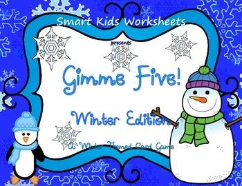Gimme Five! Winter Edition - A Math Card Game FREEBIE