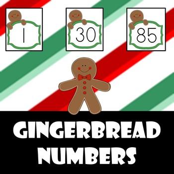 Gingebread man holiday numbers!