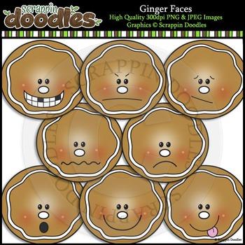 Ginger Faces Clip Art & Line Art