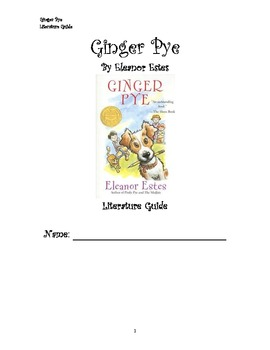 Ginger Pye Literature Guide