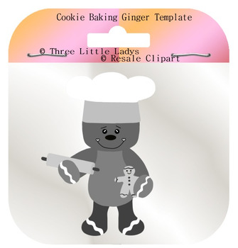 Ginger baking cookies Template