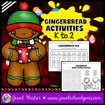 Christmas Worksheets (Gingerbread Man Activities Kindergar
