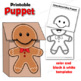 Gingerbread Man Craft: Paper Bag Puppet