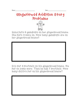 Gingerbread Addition Story Problems
