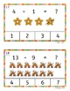 Christmas Addition and Subtraction Count and Clip for Math
