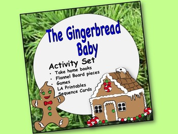 Gingerbread Baby Activity Set: Preposition book, sequence