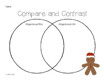 Gingerbread Boy and Gingerbread Girl Compare and Contrast