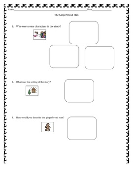 Gingerbread Boy and Gingerbread Man Comprehension