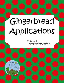 Gingerbread Boy and Girl Applications