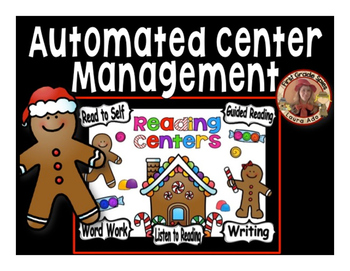 Gingerbread Centers Guided Reading Rotation Editable Power