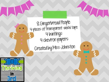 Gingerbread Clipart & Matching Elements