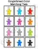 Gingerbread Color Match Folder Game for Early Childhood Sp