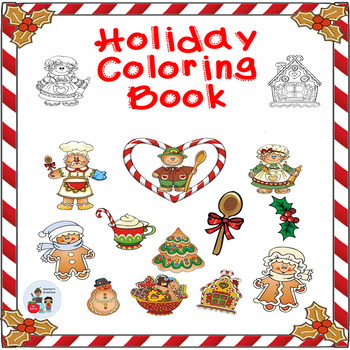 Gingerbread Coloring Book