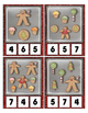 Gingerbread Cookie Counting 0 to 20 Clip Cards Math Center Fun