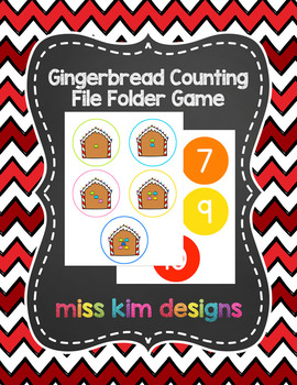 Gingerbread Counting File Folder Game for students with Autism