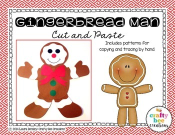 Gingerbread Man Cut and Paste Freebie