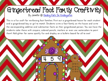 Gingerbread Fact Familiy Craftivity