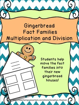 Gingerbread Fact Family Houses - Multiplication and Division